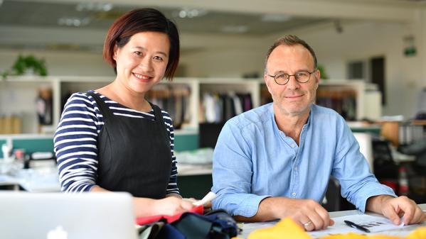 Miranda Chen und Philipp Langer sind die Gründer des Eco-Fashion Labels