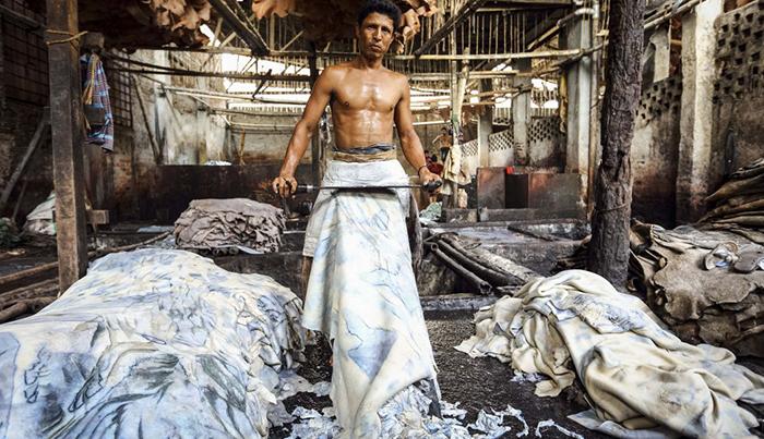 Lederproduktion in Indien