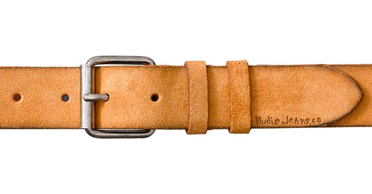 Detailansicht eines Ledergürtels