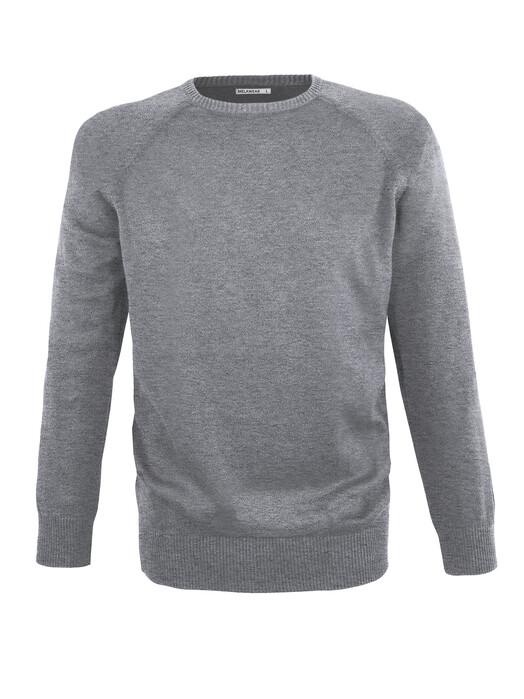 melawear Strickpullover Strickpullover Basic [grey blend] jetzt im Onlineshop von zündstoff bestellen