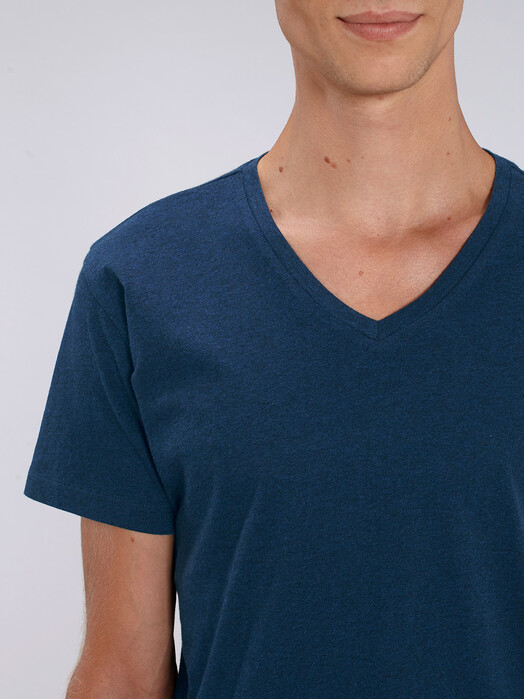 T-Shirts - Peer [diverse Farben] - XL, black heather blue 5
