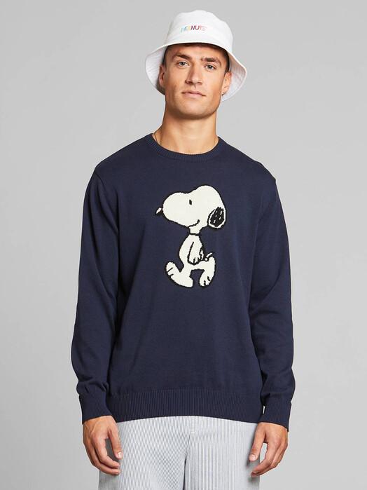 Dedicated Strickpullover Mora Snoopy [navy] S jetzt im Onlineshop von zündstoff bestellen