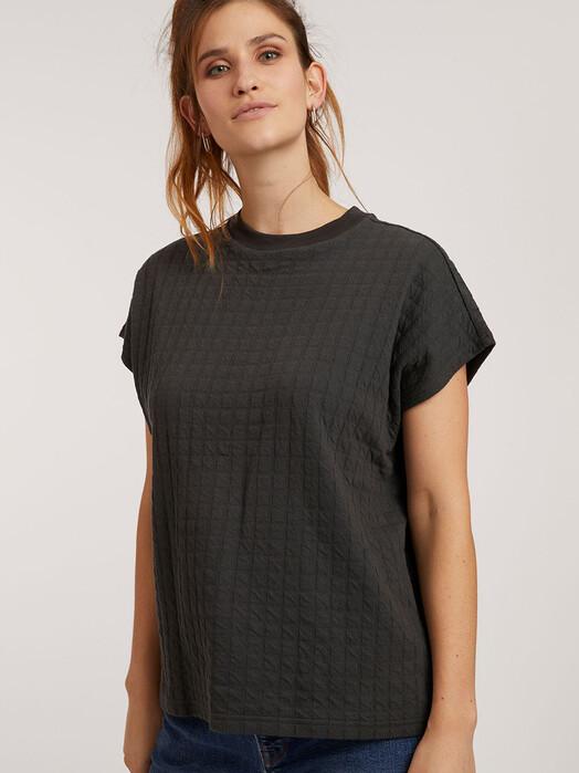 ThokkThokk  T-Shirts Boxy Shirt [dark shadow check] XS jetzt im Onlineshop von zündstoff bestellen