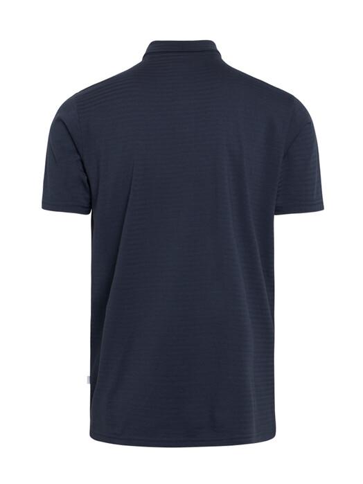 Knowledge Cotton Apparel  Hemden & Polos Rowan Striped Polo [total eclipse] jetzt im Onlineshop von zündstoff bestellen