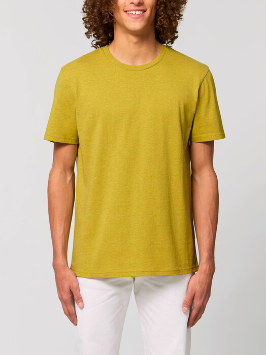 T-Shirts - Claas [diverse Farben] - S, heather neppy lemon grass 2
