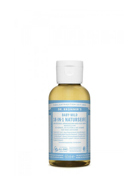 Dr. Bronner's Liquid Soap Baby-Mild 60ml