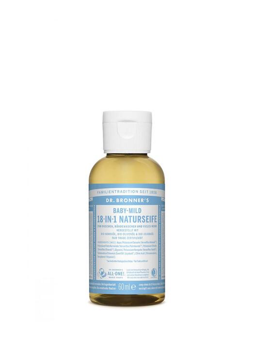 Dr. Bronner's Kosmetik Liquid Soap Baby-Mild 60ml jetzt im Onlineshop von zündstoff bestellen