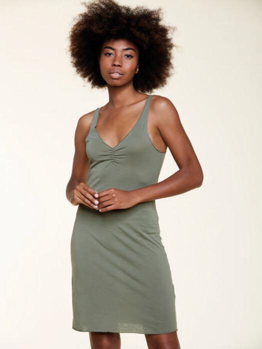 Les Racines du Ciel Kleider Inner Dress [kaki] XS jetzt im Onlineshop von zündstoff bestellen