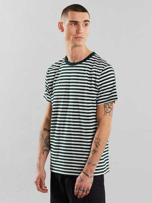 Dedicated T-Shirts Stockholm Stripes [dark green] jetzt im Onlineshop von zündstoff bestellen