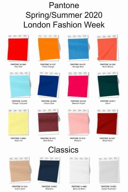Pantone Colors SpringSummer 2020