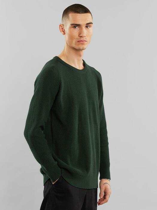 Dedicated Strickpullover Karlskrona Transfer Knit [dark green] jetzt im Onlineshop von zündstoff bestellen