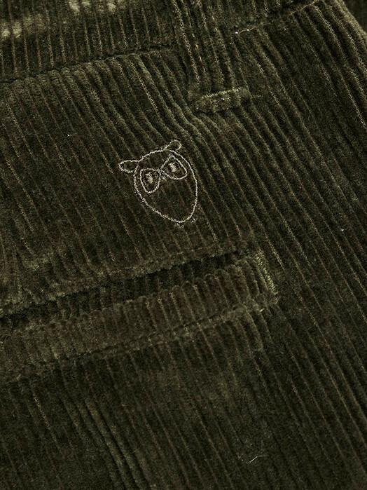 Knowledge Cotton Apparel  Chinos & Hosen Chuck Stretched Corduroy Chino [forrest night] jetzt im Onlineshop von zündstoff bestellen