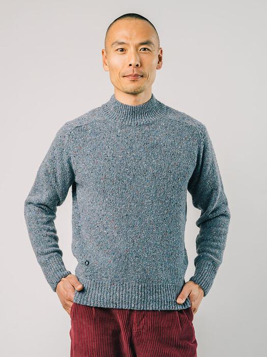 Brava Fabrics Strickpullover Perkins Neck [stone blue] jetzt im Onlineshop von zündstoff bestellen