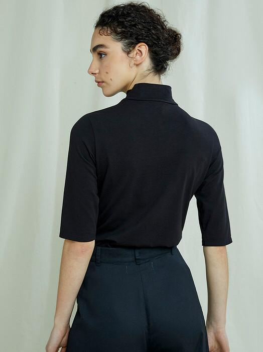 People Tree  T-Shirts Cecily Turtleneck Top [black] jetzt im Onlineshop von zündstoff bestellen