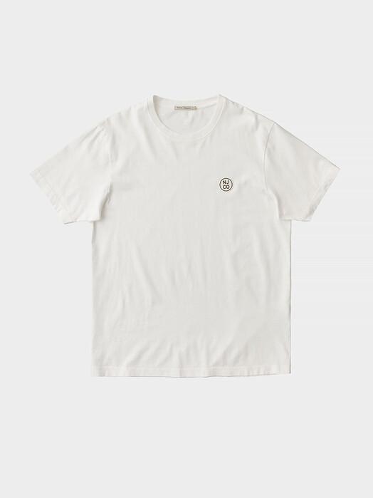 nudie Jeans T-Shirts Uno NJCO Circle [chalk white] jetzt im Onlineshop von zündstoff bestellen