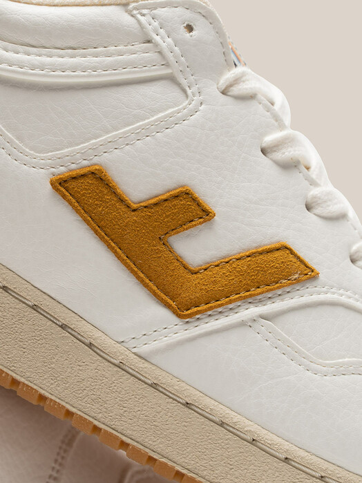 Flamingo's Life Schuhe Retro 90's Sneaker [white/mustard bicolor] jetzt im Onlineshop von zündstoff bestellen