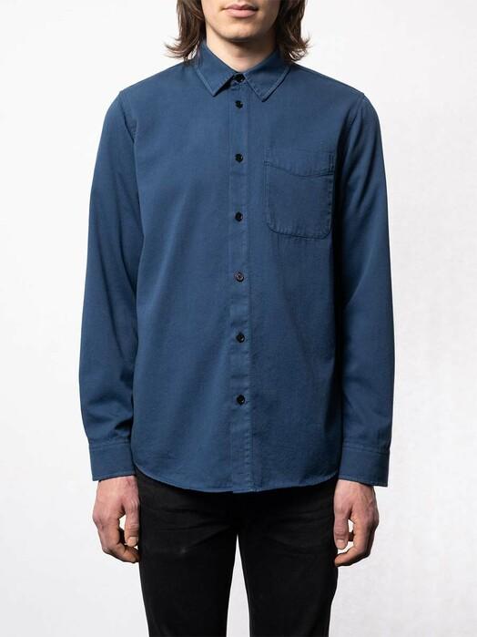 nudie Jeans Hemden & Polos Chet Pigment Dye [indigo blue] jetzt im Onlineshop von zündstoff bestellen
