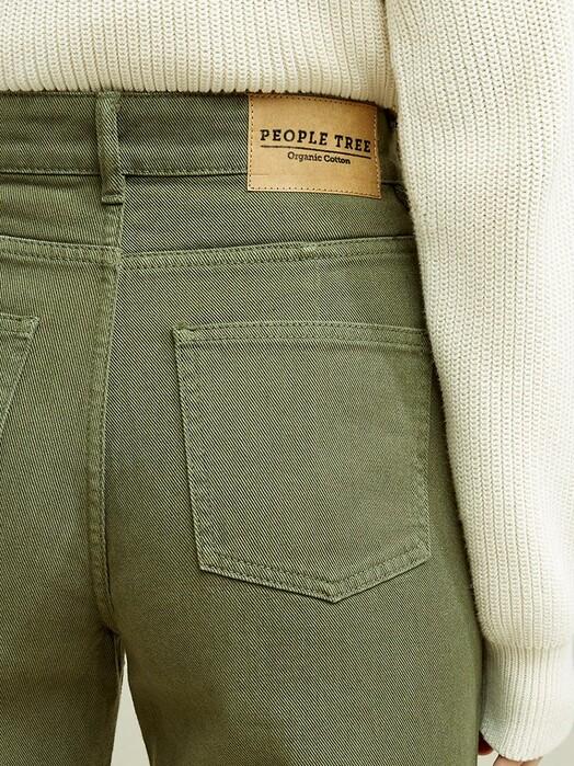 People Tree  Jeans Ariel Wide Leg Jean [khaki] jetzt im Onlineshop von zündstoff bestellen