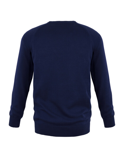 Strickpullover - Strickpullover Basic [blau] 2