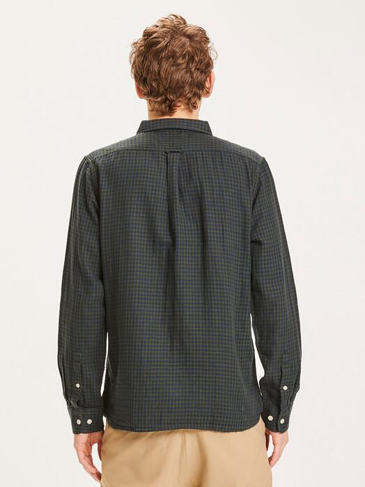 Knowledge Cotton Apparel  Hemden & Polos Larch Checked Shirt [forrest night] jetzt im Onlineshop von zündstoff bestellen