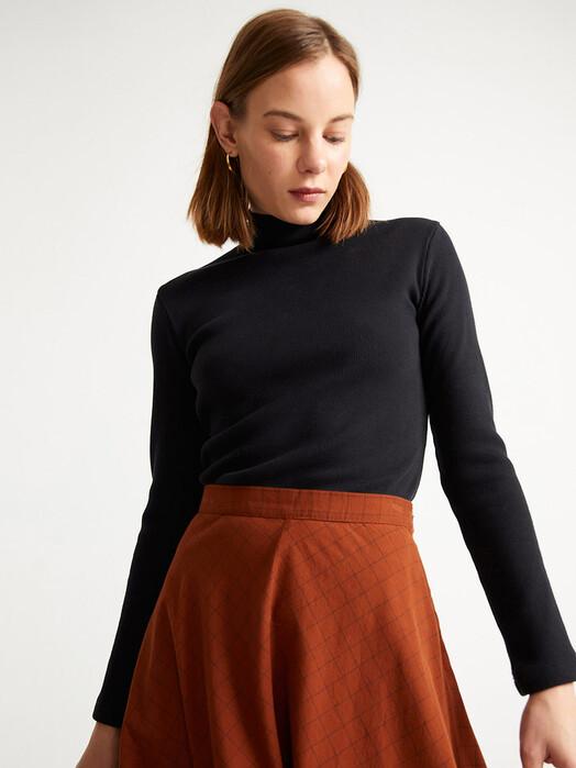 Thinking MU Röcke Checks Lavanda Skirt [clay red] jetzt im Onlineshop von zündstoff bestellen