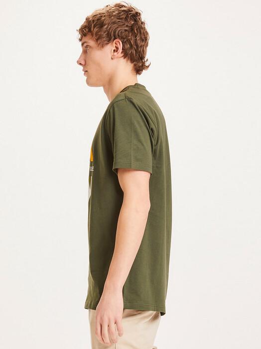 Knowledge Cotton Apparel  T-Shirts Alder Regenerated Nature Circle Tee [forrest night] jetzt im Onlineshop von zündstoff bestellen