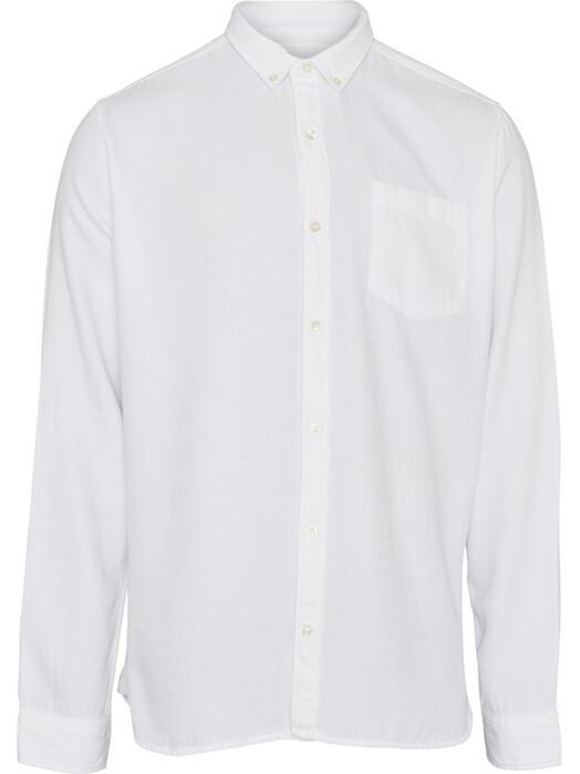 Knowledge Cotton Apparel  Hemden & Polos Larch Casual Tencel Shirt [bright white] jetzt im Onlineshop von zündstoff bestellen
