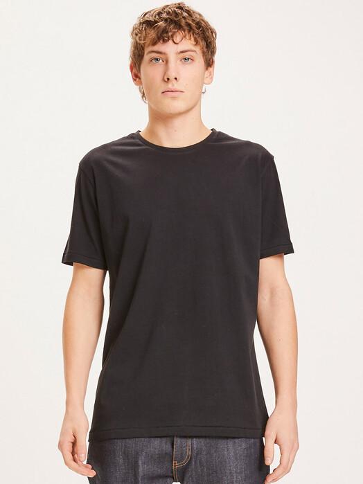 Knowledge Cotton Apparel  T-Shirts Alder Basic Tee [black jet] jetzt im Onlineshop von zündstoff bestellen