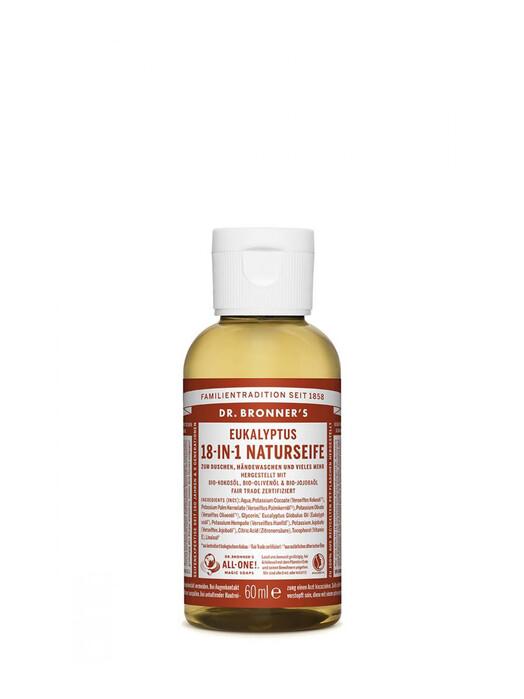 Dr. Bronner's Kosmetik Liquid Soap Eukalyptus 60ml jetzt im Onlineshop von zündstoff bestellen