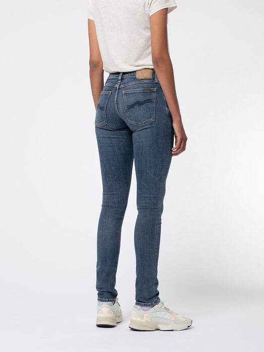 nudie Jeans Jeans Skinny Lin [dark blue navy] jetzt im Onlineshop von zündstoff bestellen