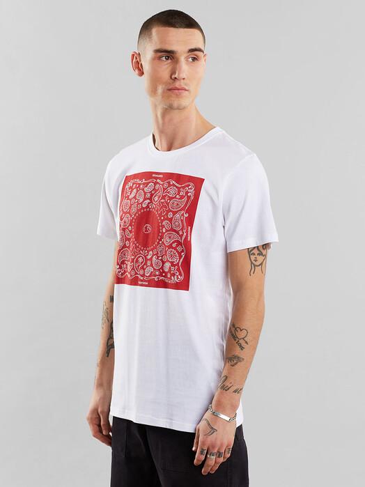 Dedicated T-Shirts Stockholm Bandana Square [white] jetzt im Onlineshop von zündstoff bestellen
