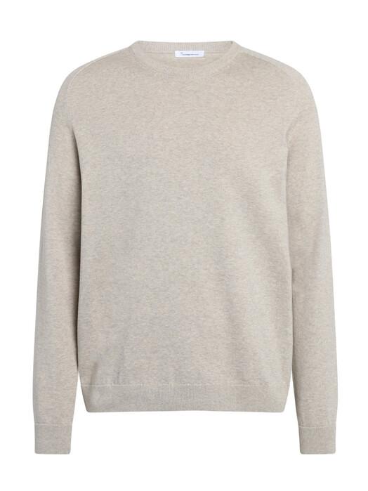 Knowledge Cotton Apparel  Strickpullover Field O-Neck Long Stable Knit [light feather gray] XL jetzt im Onlineshop von zündstoff bestellen