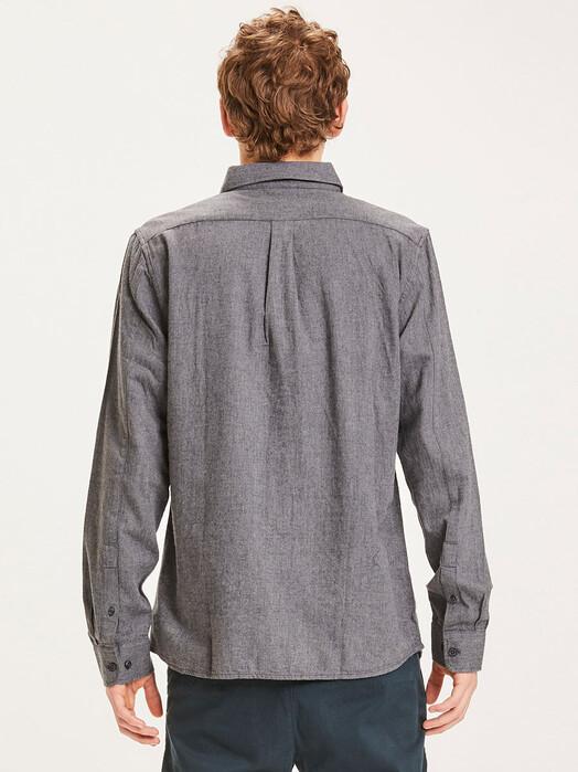 Knowledge Cotton Apparel  Hemden & Polos Elder Melange Flannel Shirt [dark grey melange] jetzt im Onlineshop von zündstoff bestellen