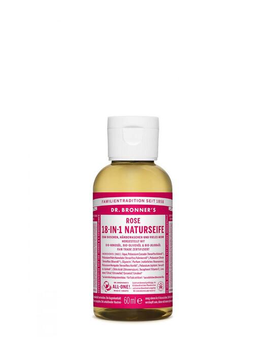 Dr. Bronner's Kosmetik Liquid Soap Rose 60ml jetzt im Onlineshop von zündstoff bestellen