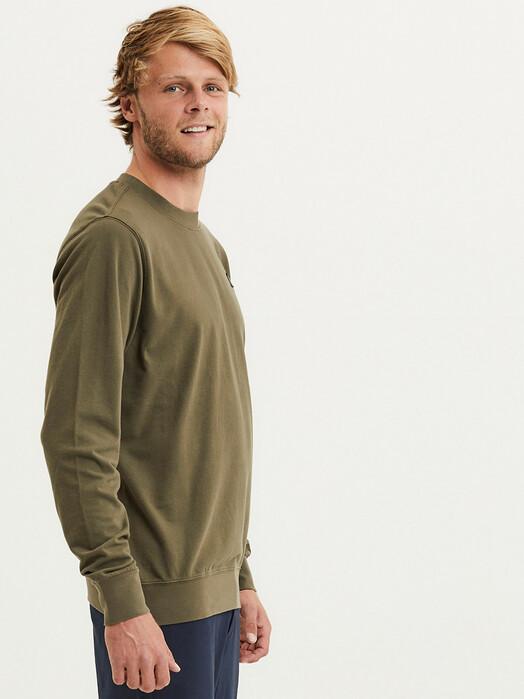 Knowledge Cotton Apparel  Sweatshirts Elm Garment Dyed Piqué [forrest night] S jetzt im Onlineshop von zündstoff bestellen