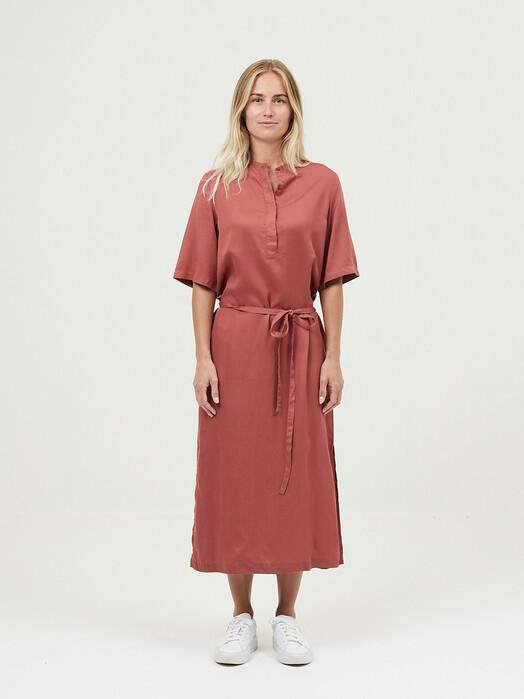 Knowledge Cotton Apparel  Kleider Orchid Tencel Dress [marsala] L jetzt im Onlineshop von zündstoff bestellen