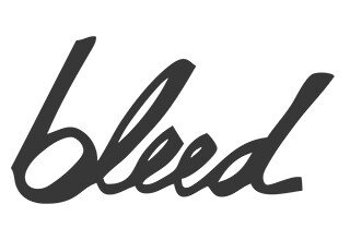 Logo bleed clothing