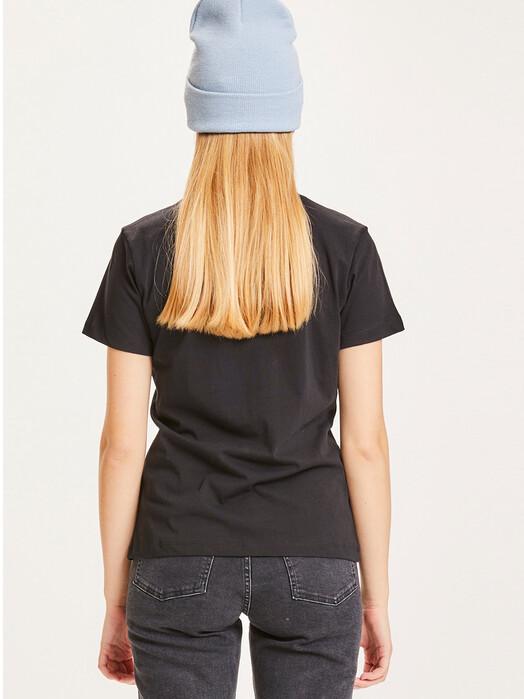 Knowledge Cotton Apparel  T-Shirts Rosa Basic Tee [black jet] jetzt im Onlineshop von zündstoff bestellen