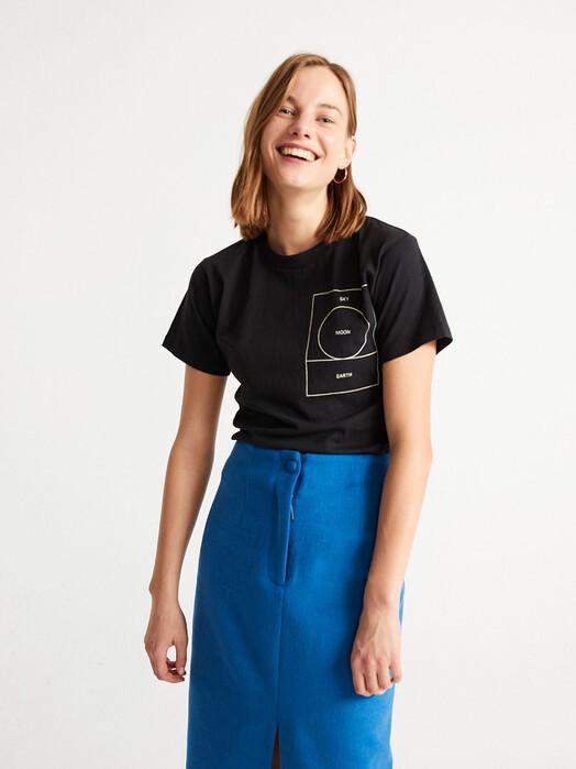 Thinking MU T-Shirts Ryan Carl Moon T-Shirt [black] jetzt im Onlineshop von zündstoff bestellen