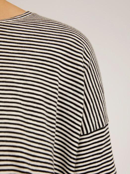 ARMEDANGELS Longsleeves Siaa Pretty Stripes [black/oatmilk] S jetzt im Onlineshop von zündstoff bestellen