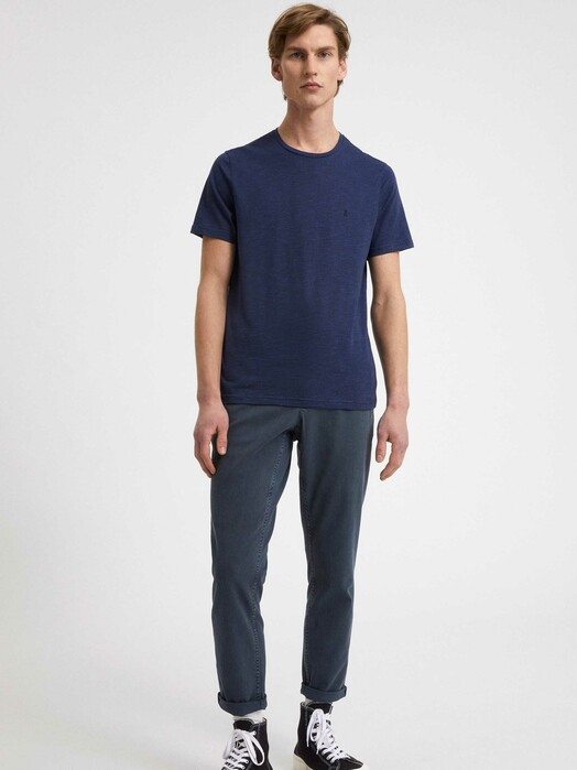 ARMEDANGELS T-Shirts Jaames Structure [depth navy/marazine blue] XL jetzt im Onlineshop von zündstoff bestellen