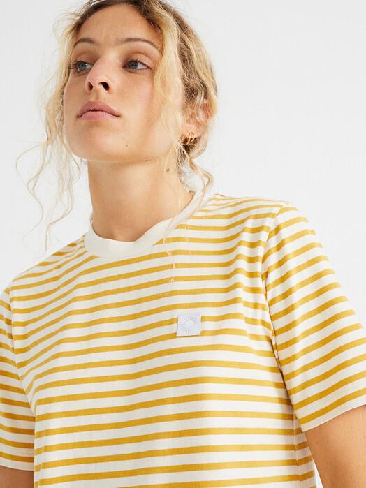 Thinking MU Kleider Stripes Dress [mustard] M jetzt im Onlineshop von zündstoff bestellen