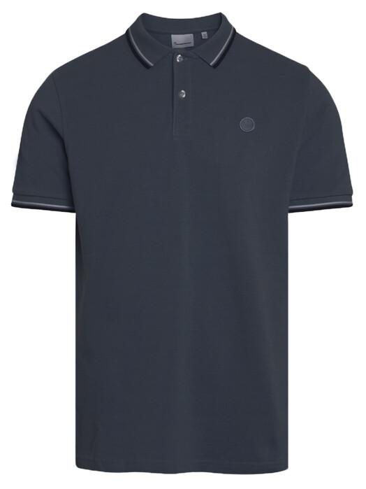 Knowledge Cotton Apparel  Hemden & Polos Rowan Basic Polo [total eclipse] jetzt im Onlineshop von zündstoff bestellen