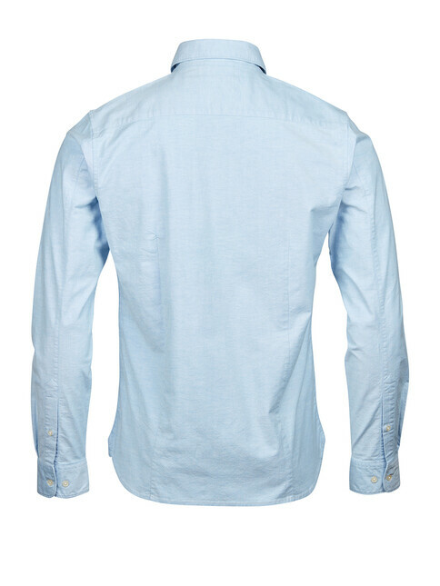 Knowledge Cotton Apparel  Stretched Oxford Shirt [lapis blue]