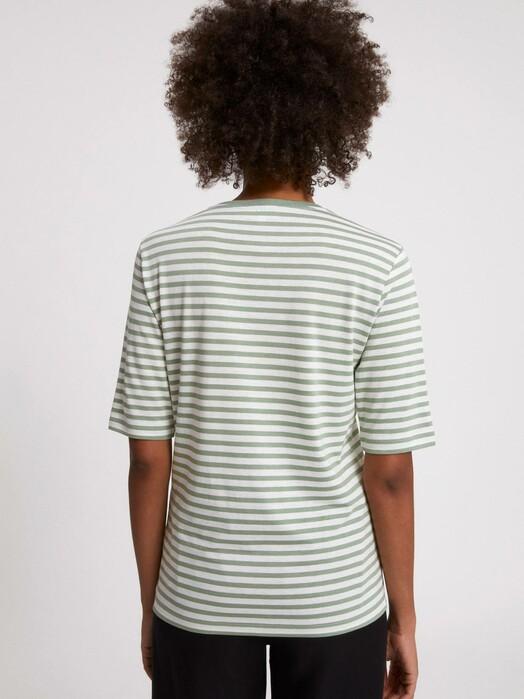 ARMEDANGELS T-Shirts Jilaraa Stripes [sage green/oatmilk] jetzt im Onlineshop von zündstoff bestellen
