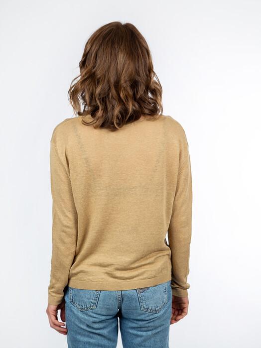 Les Racines du Ciel Strickpullover & Cardigans Jersey V-Neck Sweater [beige] XS jetzt im Onlineshop von zündstoff bestellen