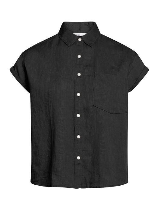 Knowledge Cotton Apparel  Blusen Aster [black jet] S jetzt im Onlineshop von zündstoff bestellen