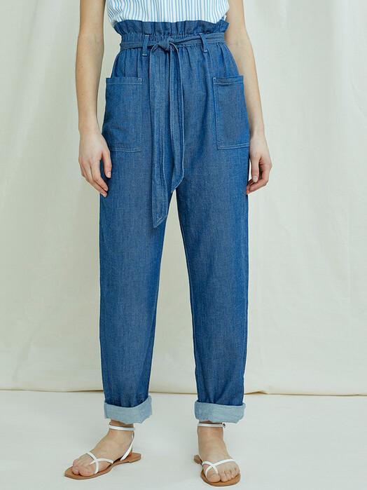 People Tree  Hosen Chloe Lightweight Denim Trousers [blue] jetzt im Onlineshop von zündstoff bestellen