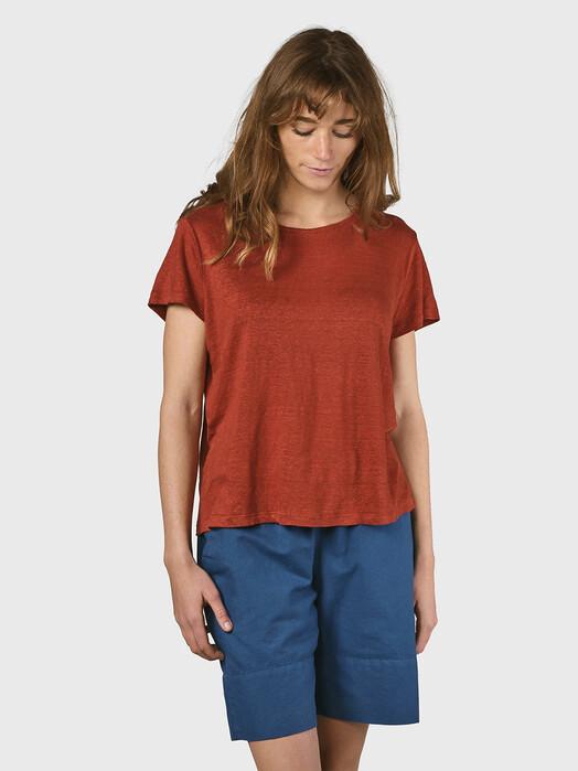 Klitmøller Collective T-Shirts Rikke Linen [clay red] M jetzt im Onlineshop von zündstoff bestellen