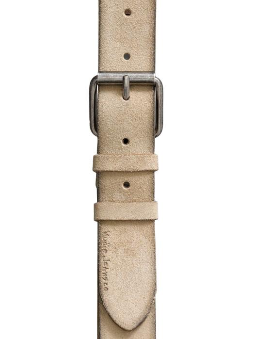 nudie Jeans Gürtel Pedersson Suede Belt [beige] jetzt im Onlineshop von zündstoff bestellen